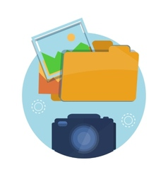 Icon of folder with pictures vector image