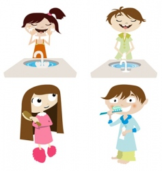 cartoon girl and boy vector image vector image