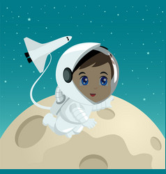 cartoon of an astronaut vector image