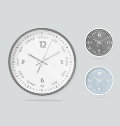 clock face dial plate vector image vector image