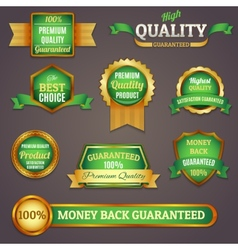 Colored quality labels set vector image