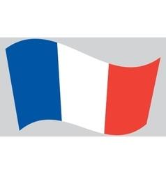 Flag of France waving vector image