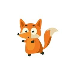 Fox Carefully Walking Away vector image vector image