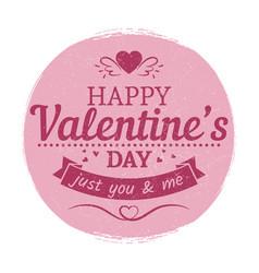grunge vintage valentines day label - love card vector image vector image