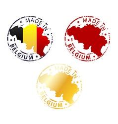 made in Belgium stamp vector image vector image