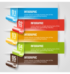 Modern Infographic and Options Banner Template vector image vector image