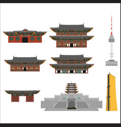 printsouth korea country design flat cartoon vector image