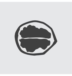 Walnut icon vector image vector image