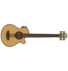 Acoustic fretless bass guitar vector