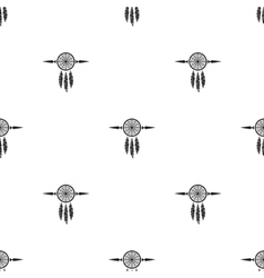 dream catchers seamless background vector image