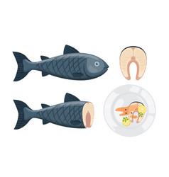 For artwork codfish plate vector