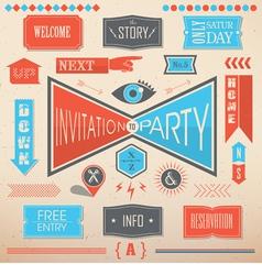 Invitation party design elements vector image vector image