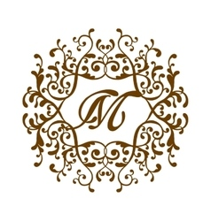 Luxury monogram template vector image vector image