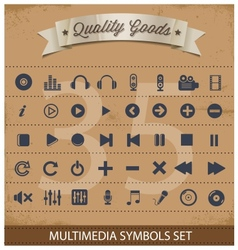pictogram multimedia symbols set vector image vector image