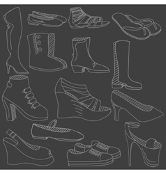 Shoes chalk vector image vector image