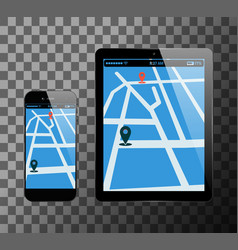 smartphone and pc tablet vector image vector image