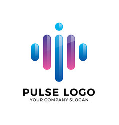 Abstract modern pulse logo vector