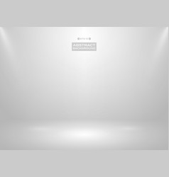 abstract of gradient white color in studio room vector image