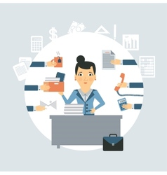 Accountant all needed in workplace vector