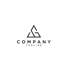 Ag triangle logo vector