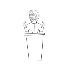 American congressman woman in the style of cartoon vector
