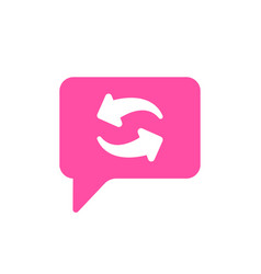 arrows bubble chat refresh reload sync icon vector image