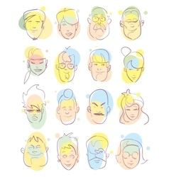 avatar icons set vector image