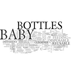 baby bottles text word cloud concept vector image
