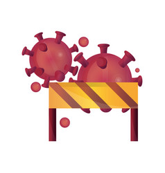 Barrier protection outbreak pandemic stop vector