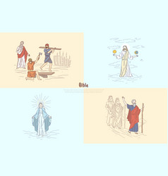 Bible story plots myth and legends vector