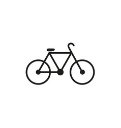 bicycke bike icon black vector image