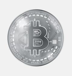 Bitcoin coin grayscale vector
