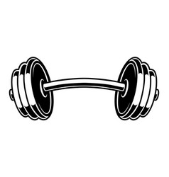 Black and white of a dumbbell vector