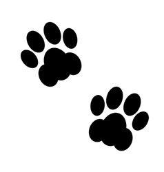 black animal footsteps vector image