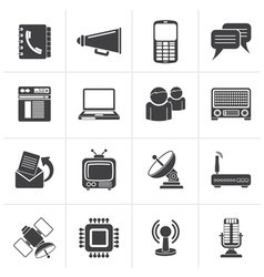 Black Communication connection and technology vector image