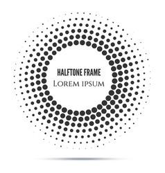 black halftone mosaic dot frame vector image