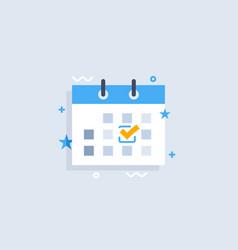calendar deadline or event reminder vector image