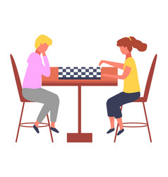 cartoon funny chess-players vector image