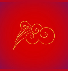 chinese asian style clouds vector image