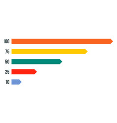 colorful graph bar icon flat style vector image