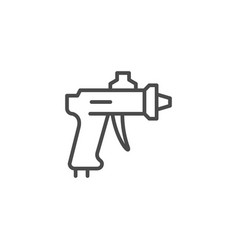 Compressor paint gun line outline icon vector