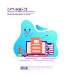concept data science modern conceptual for vector image