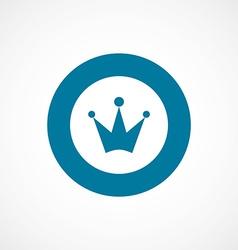 Crown bold blue border circle icon vector