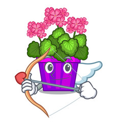 Cupid geranium flower isolated with the mascot vector