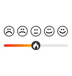 Customer icon emotions satisfaction meter with vector