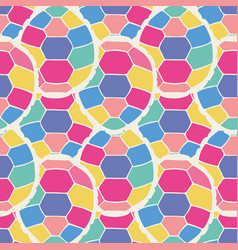 Cute multicolor seamless pattern of stylized vector