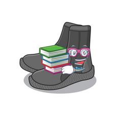 Dive booties student mascot design read many vector