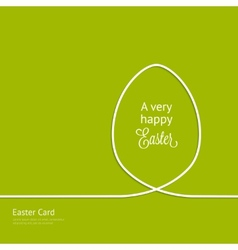 Easter card with silhouette line egg vector image