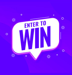 Enter to win purple template for promotions vector