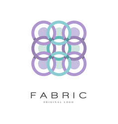fabric original logo creative geometrical badge vector image